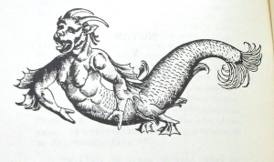 Deidad marina, ilustración tomada de Coronado, Eligio Moisés La obra evangelizadora de P. Juan María de Salvatierra...(1979)