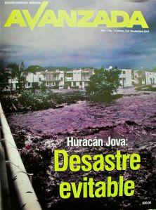 Portada de la revista Avanzada, especial Huracán Jova: desastre evitable
