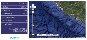 Epicentro del sismo: Servicio Sismológico Nacional