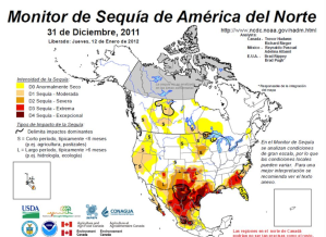 Monitor de sequía de América del Norte, en: http://www.ncdc.noaa.gov/nadm.html