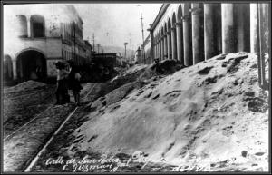 "Calle de San Pedro (Archivo General e Histórico Municipal ""Juan S. Vizcaíno de Zapotlán el Grande, Jalisco en adelante AGHMZ)"